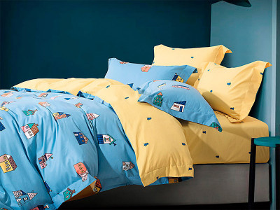 Комплект постельного белья Asabella 1182-4S (размер 1,5-спальный)