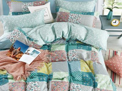 Комплект постельного белья Asabella 1340/180 на резинке (размер евро)