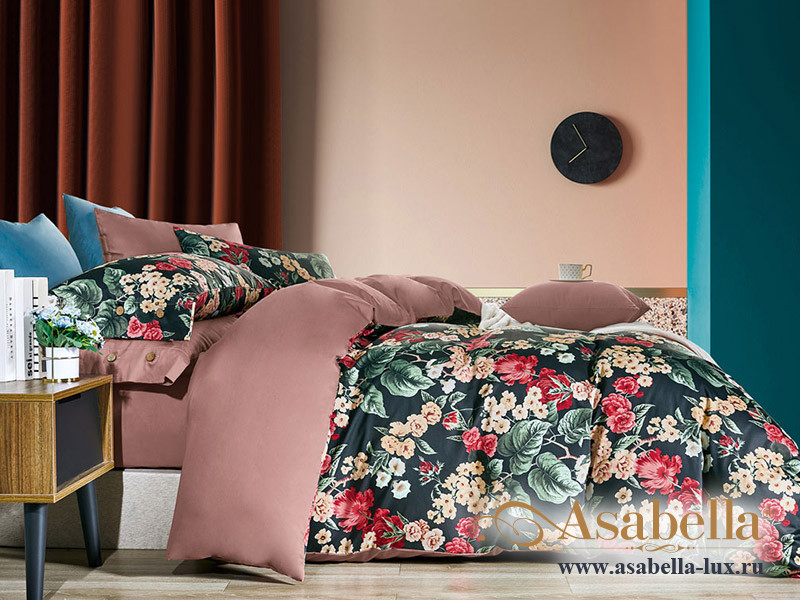Комплект постельного белья Asabella 1640/160 на резинке (размер евро)