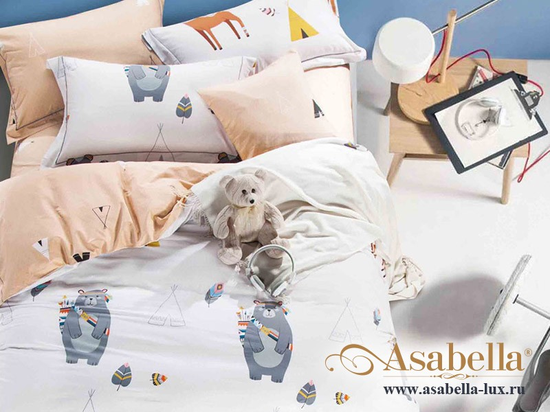Комплект постельного белья Asabella 244-4S (размер 1,5-спальный)