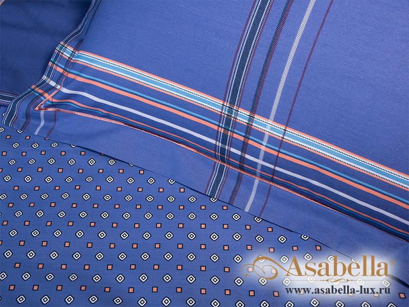 Комплект простыни 180х245 см с двумя наволочками 50х70 см из печатного сатина хлопок Asabella 1076-3PS