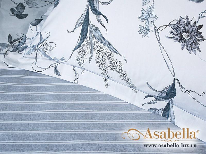 Комплект простыни 180х245 см с двумя наволочками 50х70 см из печатного сатина хлопок Asabella 1101-3PS