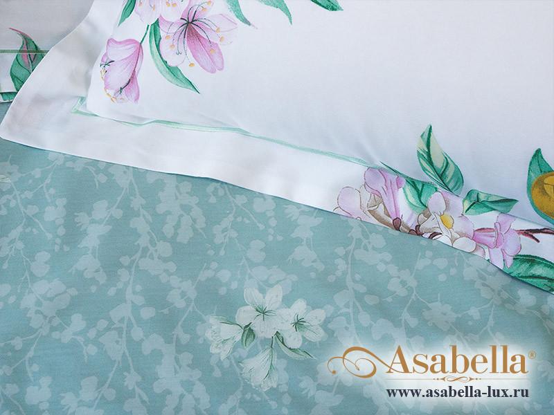 Комплект простыни 180х245 см с двумя наволочками 50х70 см из печатного сатина хлопок Asabella 1151-3PS