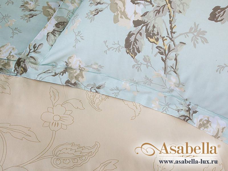 Комплект простыни 240х260 см с двумя наволочками 50х70 см из печатного сатина хлопок Asabella 1153-3P