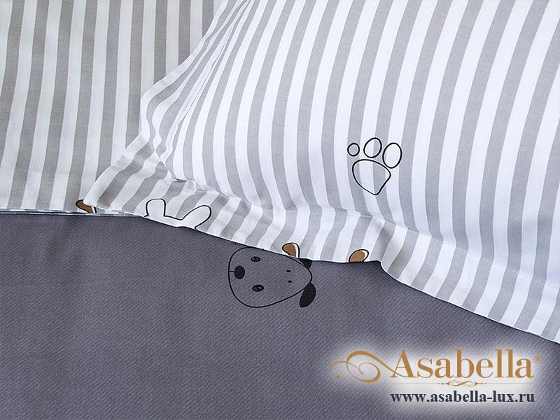 Комплект простыни 180х245 см с двумя наволочками 50х70 см из печатного сатина хлопок Asabella 1154-3PS