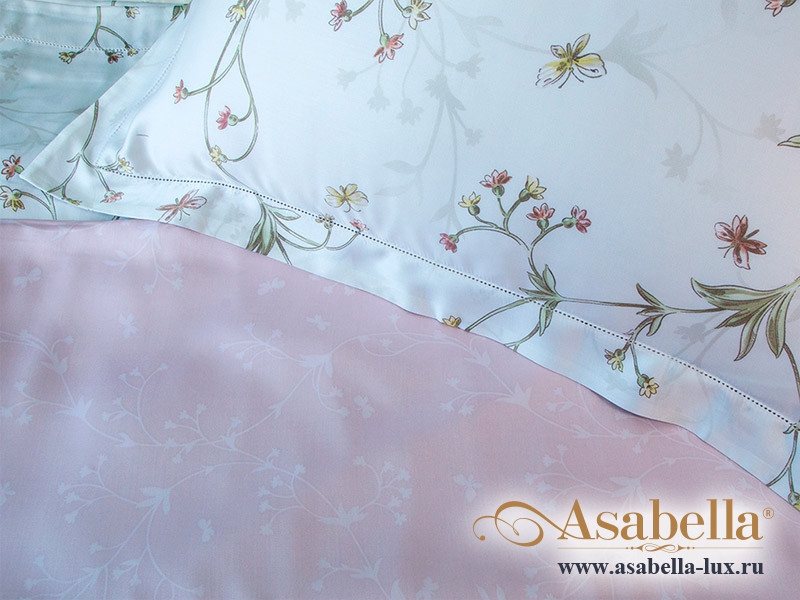 Комплект простыни 180х245 см с двумя наволочками 50х70 см из сатина тенсель Asabella 1156-3PS