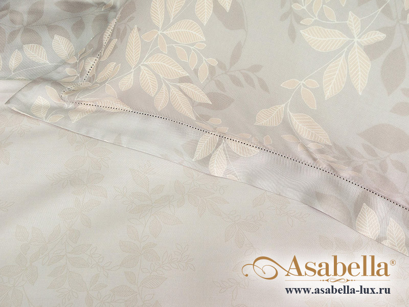 Комплект простыни 180х245 см с двумя наволочками 50х70 см из сатина тенсель Asabella 1165-3PS