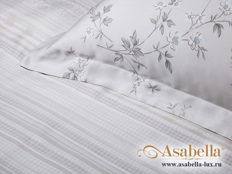 Комплект простыни 180х245 см с двумя наволочками 50х70 см из сатина тенсель Asabella 117-3PS