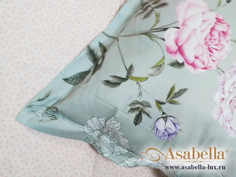 Комплект простыни 180х245 см с двумя наволочками 50х70 см из печатного сатина хлопок Asabella 1255-3PS
