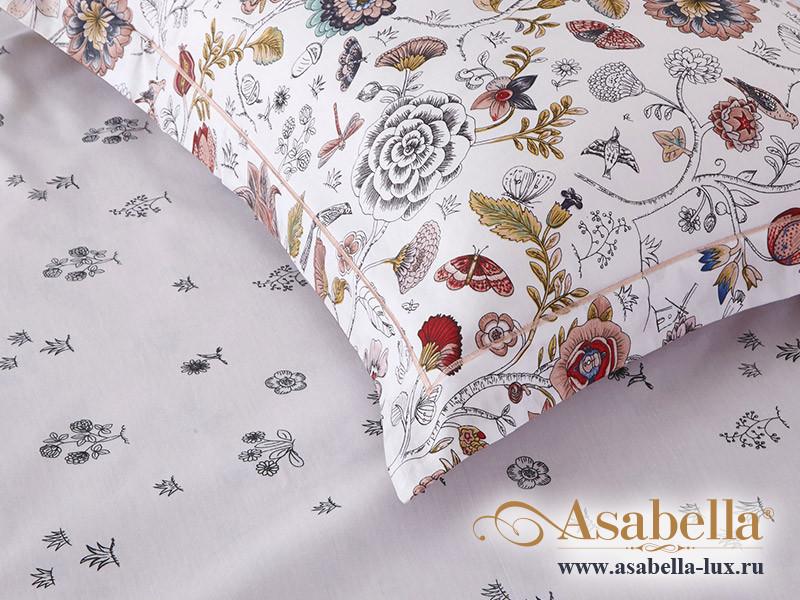Комплект простыни 240х260 см с двумя наволочками 50х70 см из печатного сатина хлопок Asabella 1261-3P