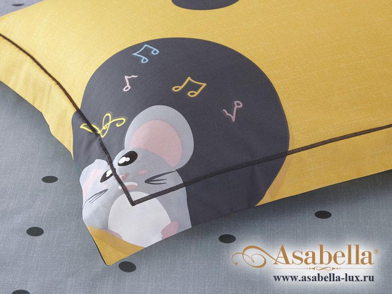 Комплект простыни 240х260 см с двумя наволочками 50х70 см из печатного сатина хлопок Asabella 1345-3P