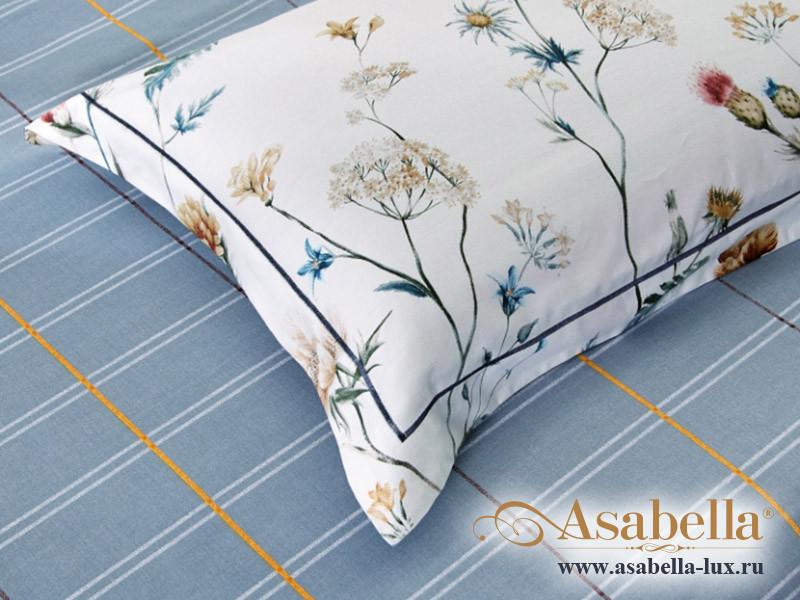 Комплект простыни 180х245 см с двумя наволочками 50х70 см из печатного сатина хлопок Asabella 1481-3PS