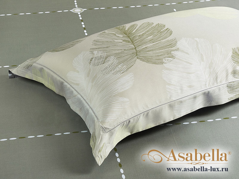Комплект простыни 240х260 см с двумя наволочками 50х70 см из сатина тенсель Asabella 1534-3P