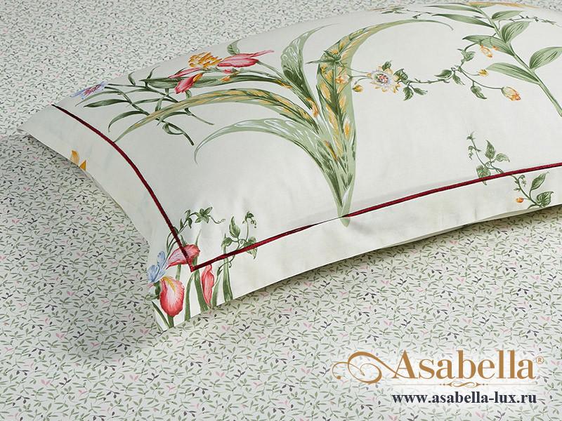 Комплект простыни 240х260 см с двумя наволочками 50х70 см из печатного сатина хлопок Asabella 1549-3P