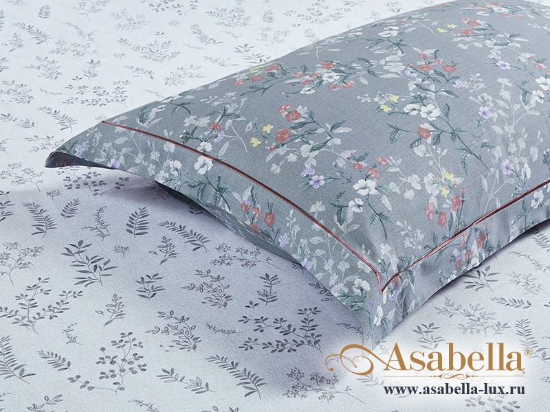 Комплект простыни 240х260 см с двумя наволочками 50х70 см из печатного сатина хлопок Asabella 1565-3P