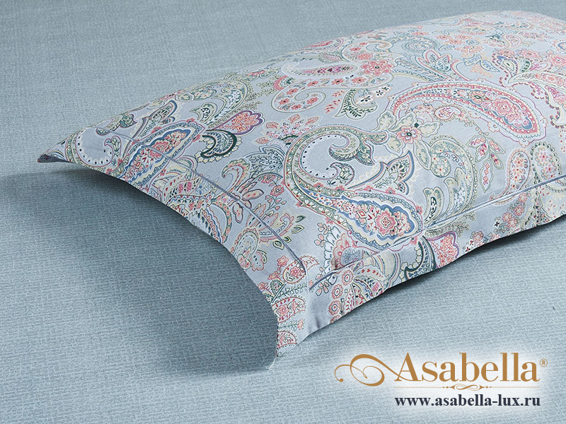 Комплект простыни 240х260 см с двумя наволочками 50х70 см из печатного сатина хлопок Asabella 1567-3P
