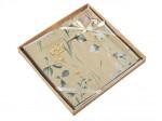 Комплект простыни 240х260 см с двумя наволочками 50х70 см из печатного сатина хлопок Asabella 1610-3P