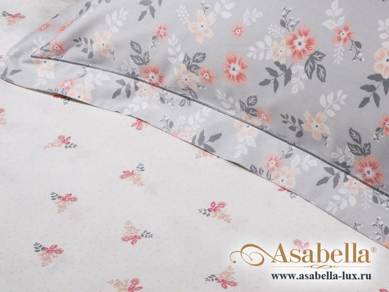Комплект простыни 240х260 см с двумя наволочками 50х70 см из печатного сатина хлопок Asabella 183-3P