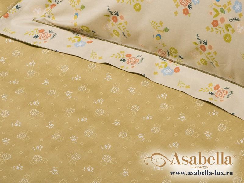 Комплект простыни 180х245 см с двумя наволочками 50х70 см из печатного сатина хлопок Asabella 184-3PS
