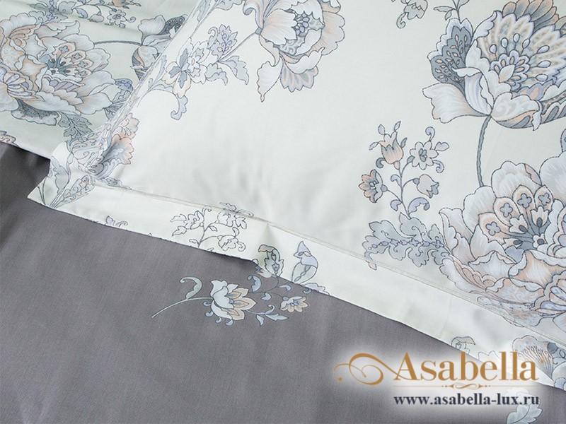 Комплект простыни 240х260 см с двумя наволочками 50х70 см из печатного сатина хлопок Asabella 381-3P