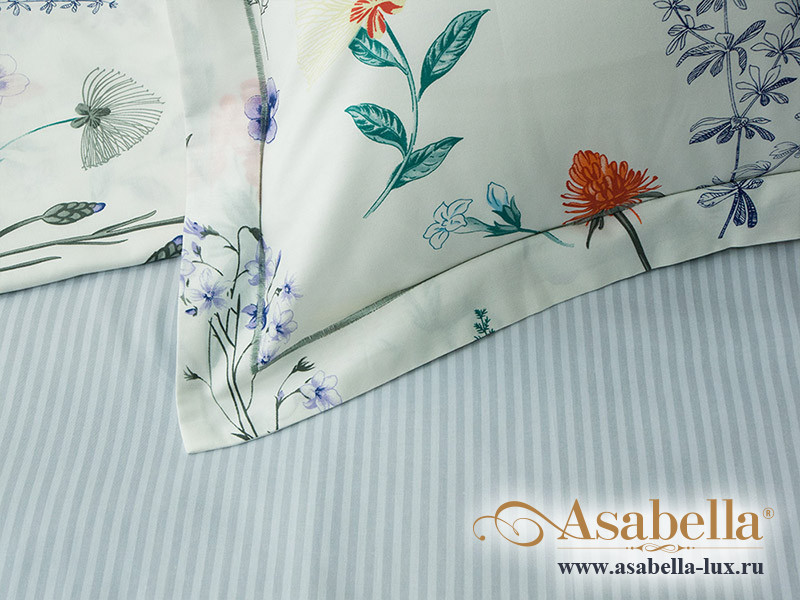 Комплект простыни 240х260 см с двумя наволочками 50х70 см из печатного сатина хлопок Asabella 529-3P