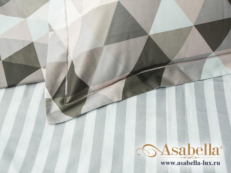 Комплект простыни 180х245 см с двумя наволочками 50х70 см из печатного сатина хлопок Asabella 550-3PS