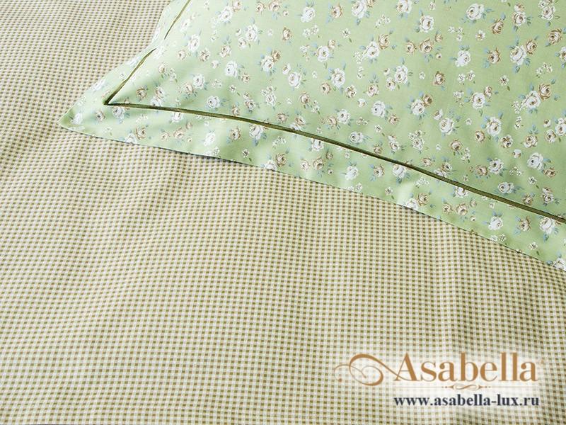 Комплект простыни 240х260 см с двумя наволочками 50х70 см из печатного сатина хлопок Asabella 824-3P