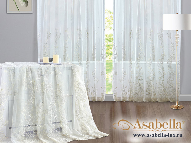 Тюль Asabella A11 (2 полотна размером 270х275 см)